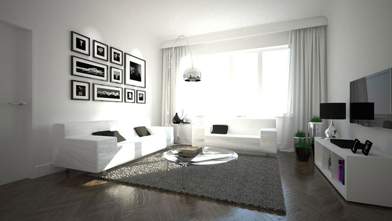 puristische wohnzimmer die neuesten innenarchitekturideen. Black Bedroom Furniture Sets. Home Design Ideas