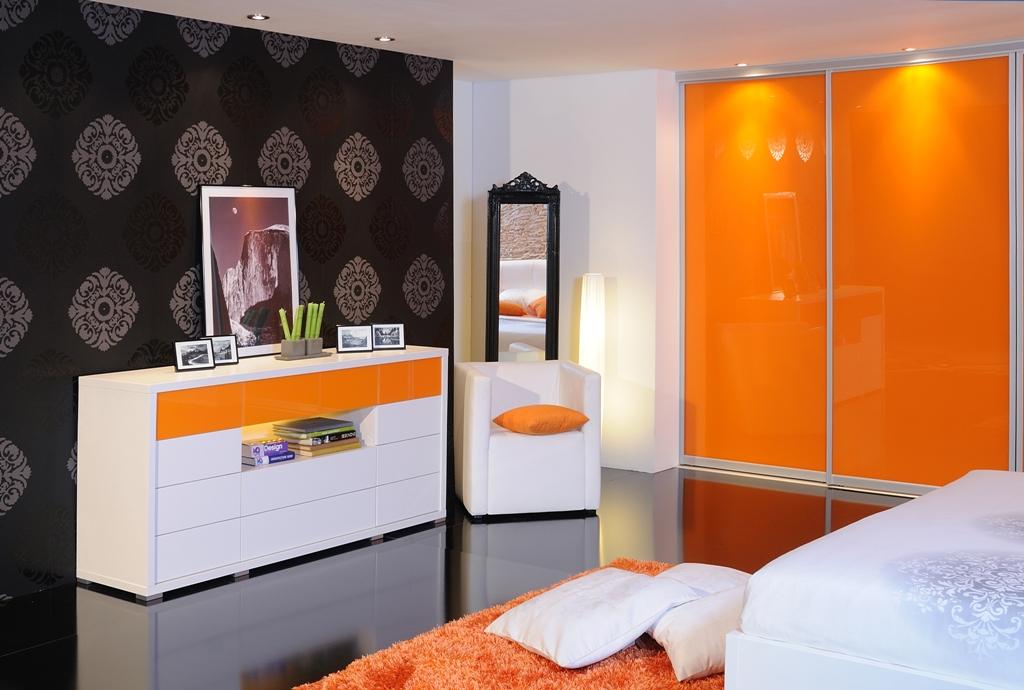 Kommode, Glas, Modern, Schlafzimmer, Schubladen Push